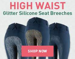 high waist glitter silicone breeches